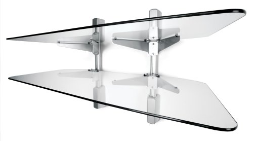 Vantage Point AXWG02S 2-Shelf Audio/Video Wall Shelves - Silver