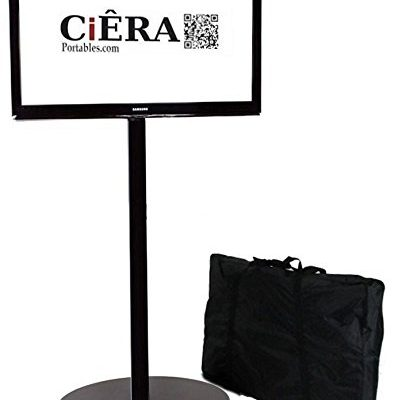 CiERA EZ StandTall ONE Portable TV Stand with Padded Carrying Case for 28-70 Inch TV's – Black Review