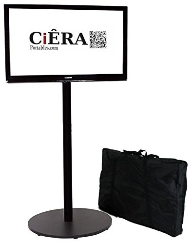 CiERA EZ StandTall ONE Portable TV Stand with Padded Carrying Case for 28-70 Inch TV's - Black