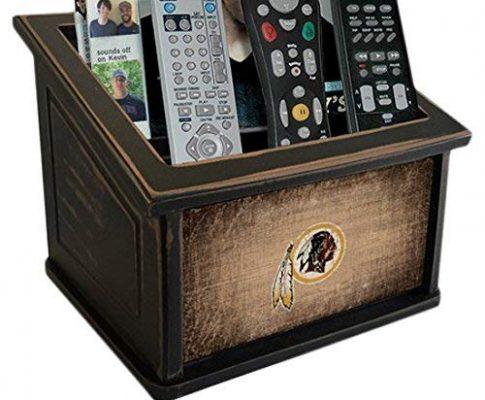 Fan Creations N0765-WAS Washington Redskins Woodgrain Media Organizer, Multicolored Review