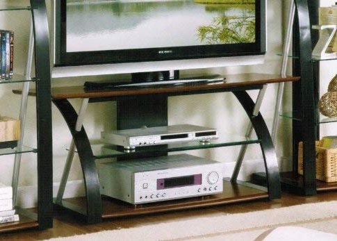 TV Stand with Tempered Glass in Espresso Finish Review
