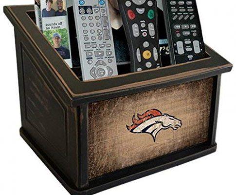 Fan Creations N0765-DEN Denver Broncos Woodgrain Media Organizer, Multicolored Review