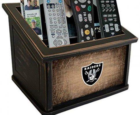 Fan Creations N0765-OAK Oakland Raiders Woodgrain Media Organizer, Multicolored Review