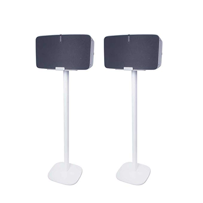Vebos floor stand Sonos Play 5 gen 2 white set en optimal experience in every room - Allows you to place your SONOS PLAY 5 exactly where you want it - Two years warranty