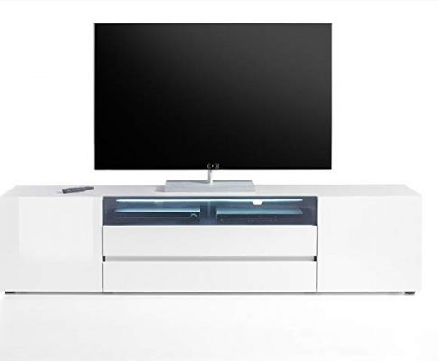 Vicenza Collection – Large TV Cabinet 203 – European Design Elegant TV Console – High Gloss TV Stand with LED Light (80-inch Width) Review