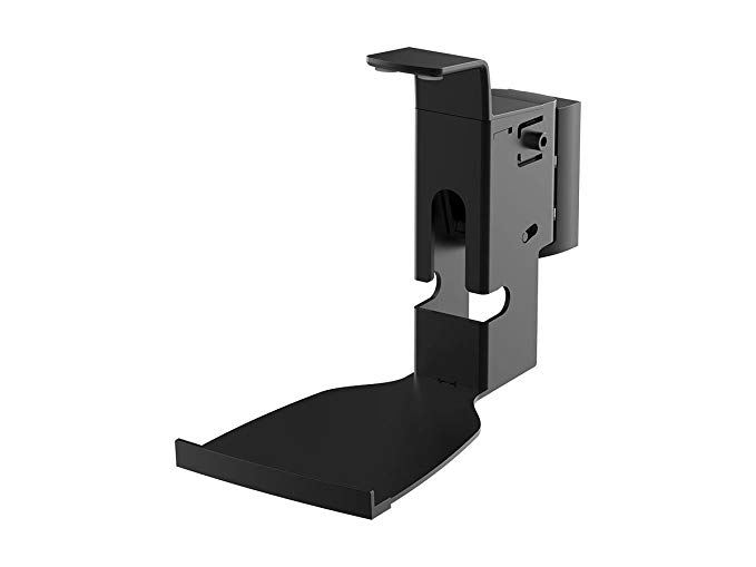 Monoprice Premium Fixed Wall Mount for SONOS Play:5 Speakers - Black with Cable Management and Stable Base for Home Theater