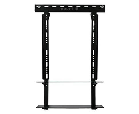 Mount-It! Low Profile Flat Panel TV Mount and Glass Entertainment Center Combo (2 Shelf, 23 inch – 40 inch) Review