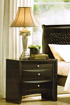 Night Stand with Storage Drawers – Black Finish Review