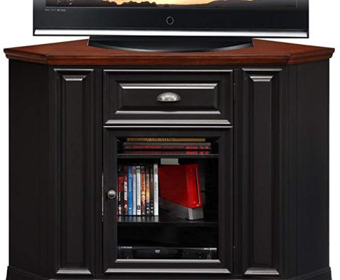 Leick Furniture 46″ Corner TV Stand in Black and Cherry Review