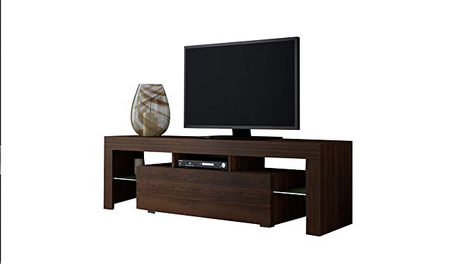 Concept Muebles TV Stand Milano 160 White line/Modern LED TV Cabinet/Living Room Furniture/Tv Console fit for up to 70
