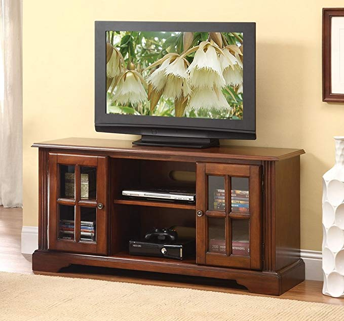 ACME Furniture Basma 2 Open Shelves Television Stand, Cherry