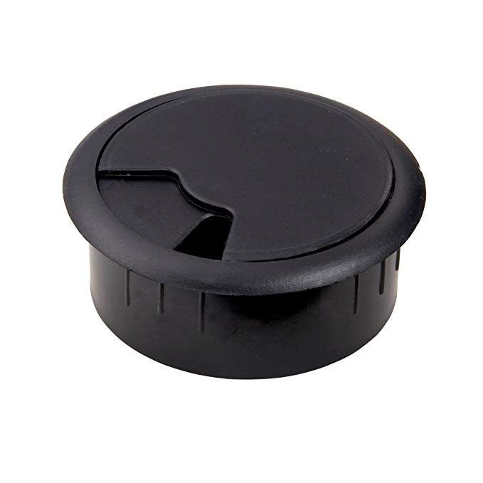 AmerTac - Zenith TM1001HCB 2 1/4-Inch Furniture Hole Cover, Black