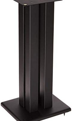Monolith 24 Inch Speaker Stand (Each) – Black | Supports 75 lbs, Adjustable Spikes, Compatible with Bose, Polk, Sony, Yamaha, Pioneer and Others Review