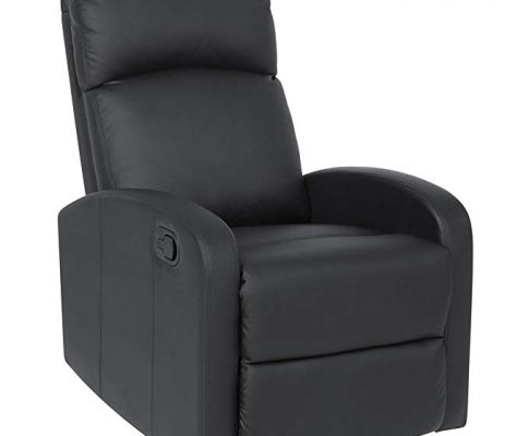Best Choice Products Furniture Home Theater PU Leather Recliner Chair- Black Review