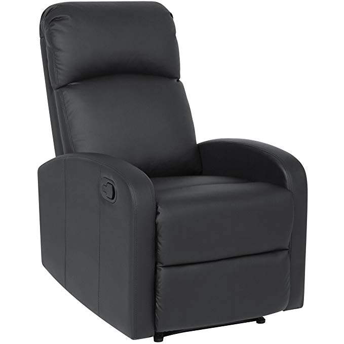 Best Choice Products Furniture Home Theater PU Leather Recliner Chair- Black
