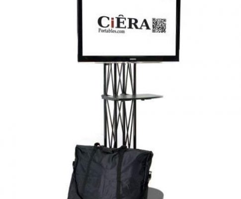 CiERA EZ Fold All-In-One Portable TV Stand with Shelf for 28-70 Inch TV's – Black Review