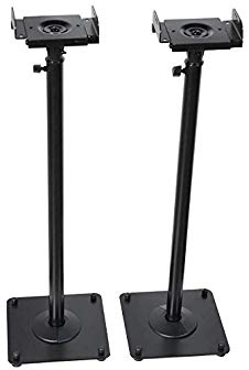 VideoSecu 2 Heavy duty PA DJ Club Adjustable Height Satellite Speaker Stand Mount – Extends 26.5″ to 47″ (i.e. Bose, Harmon Kardon, Polk, JBL, KEF, Klipsch, Sony, Yamaha, Pioneer and others) 1B7 Review