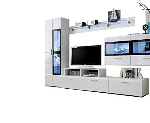 Kane 4 Wall Unit Model 2 / Contemporary Design with LED Lights Review