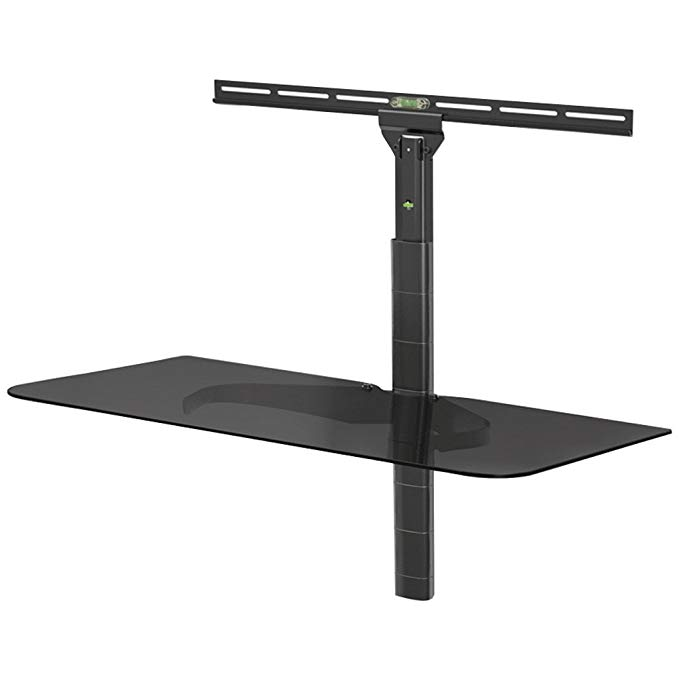 LEVEL MOUNT ELGS Adjustable Glass Component Shelf