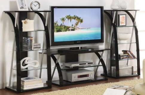 3pc Entertainment Centre with Media Tower in Black Finish Review