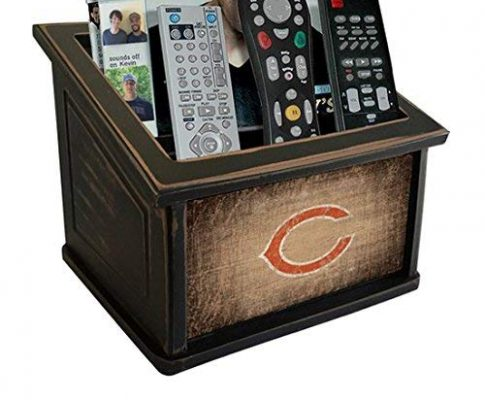 Fan Creations N0765-CHI Chicago Bears Woodgrain Media Organizer, Multicolored Review