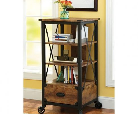 Better Homes and Gardens Rustic Country Tech Pier, Antiqued Black/Pine Finish Review