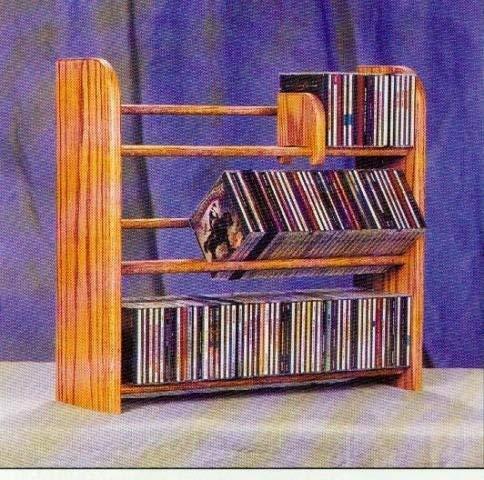Wood Dowel CD Rack (Natural) (21-3/4