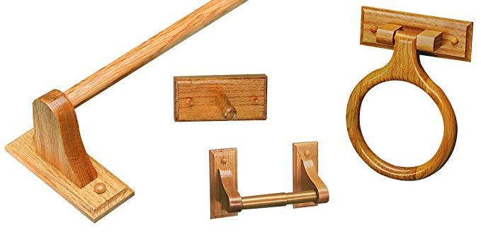 Design House 534610 Bradford 4 Piece Accessory Kit, Honey Oak Finish