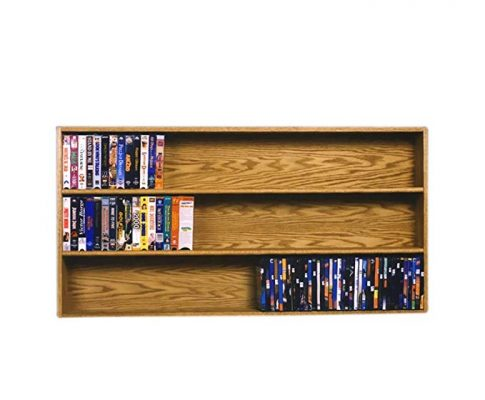 Cdracks Media Furniture Solid Oak Wall or Shelf Mount DVD/VHS Tape/Book Cabinet Honey Finish 308-4 W Review