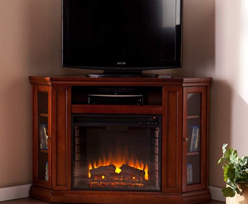 Convertible Electric Fireplace with Cabinet , TV Media Stand Console – Mahogany Review