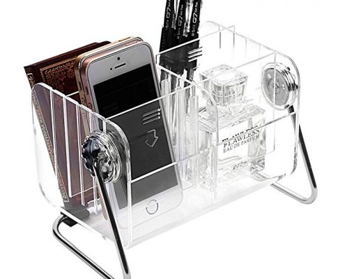 Ivosmart Clear Desktop Acrylic TV Remote Control Mobile Phone Storage Holder Organizer Caddy Review