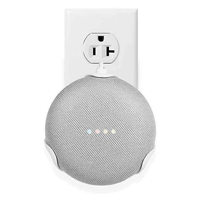 LANMU Outlet Wall Mount for Google Home Mini,Outlet Shelf Holder for Google Home Mini Voice Assistants