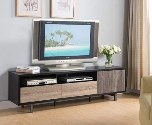 Smart home 70″ 3 Toned TV Stand Entertainment Center Console Review