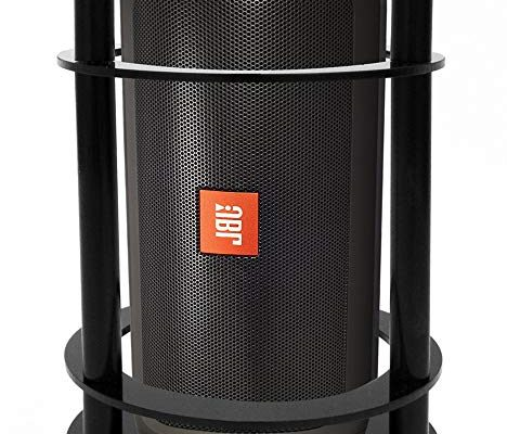 FitSand Speaker Stand Guard Station for JBL Charge 2+ Splashproof Portable Bluetooth Speaker – Enhanced Strength and Stability to Protect Alexa Boom Speaker (Black) Review