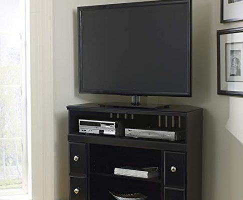 Shay Black Wood Corner TV Stand Review