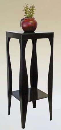 Phone / Plant Stand in Black Finish ADS6082-bk