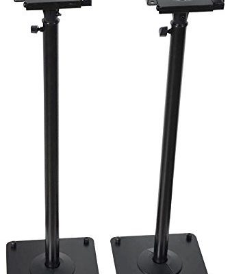 VideoSecu 2 Adjustable Steel Speaker Stands Universal Floor Stands for Front or Rear Surround Sound Speakers W1V Review