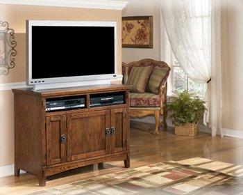 Medium Brown Oak Stained Finished TV Stand