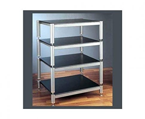 VTI BL404-13 4 Shelf Audio Rack (with 13″ bottom shelf clearance) – Gold/Black / Black Review