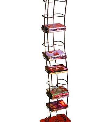 Atlantic 1386 Wave 74-DVD Wire Towers – (Black/Cherry) Review