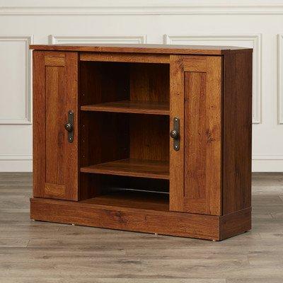 Charlton Home Horatio Corner TV Stand, Abbey Oak
