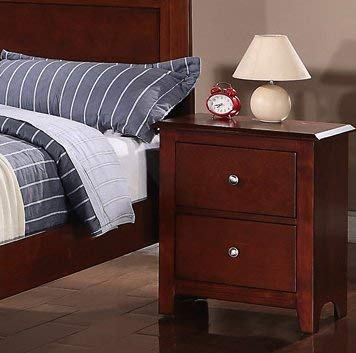 Night stand in Oak with 2 Drawers by Poundex Review