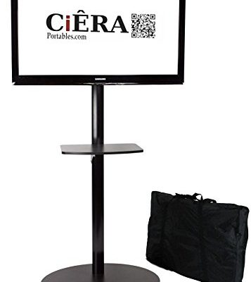 CiERA EZ StandTall ONE Portable TV Stand with Padded Carrying Case and Shelf for 28-70 Inch TV's – Black Review