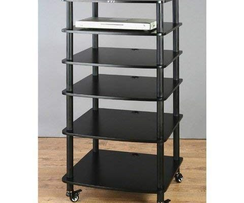 VTI AR406 6 Shelf Black Audio Rack – Black/Black Review