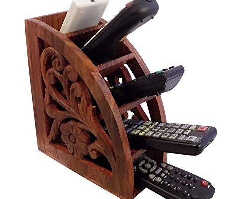 Dungri India ® Wooden Multi Remote Control Holder/stand/organizer/rack for Space Saving 4 Slot TV Remote Control Storage Organizer Caddy Review
