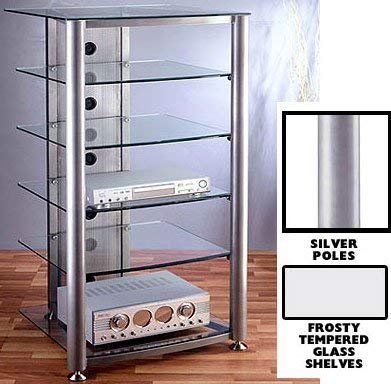 VTI RGR-406 6 Shelf Silver Glass Audio Rack – Black Frame/Frosted Shelves Review