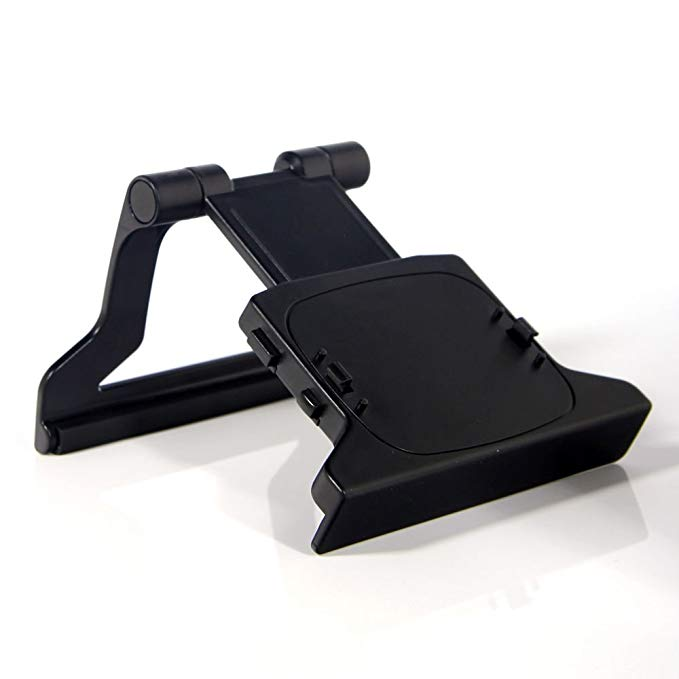 SODIAL(R) New TV Clip Mount Mounting Stand Holder for Microsoft Xbox 360 Kinect Sensor BLK