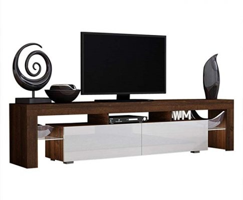 TV Stand Solo 200 Modern LED TV Cabinet/Living Room Furniture/Tv Cabinet fit for up to 90-inch TV Screens/High Capacity Tv Console for Modern Living Room (Walnut/White) Review