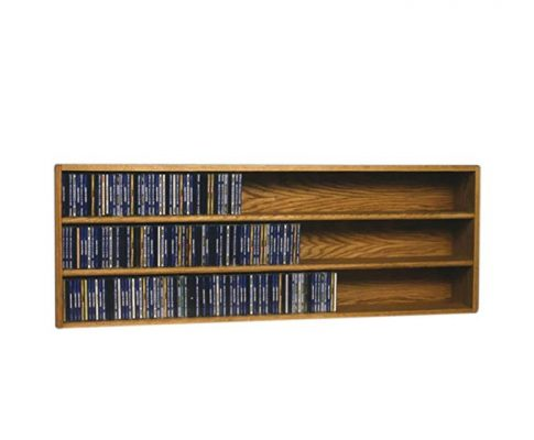 Cdracks Media Furniture Solid Oak Wall or Shelf Mount CD Cabinet Capacity 354 CD's Honey Finish Review