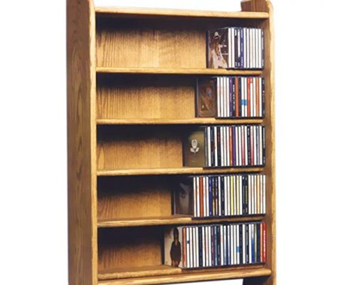 Cdracks Media Furniture Solid Oak 5 Shelf CD Cabinet Maximum Capacity 330 CD's Honey Finish Review